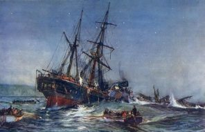 Painting of Birkenhead Shipwreck by Charles Dixon